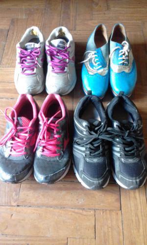 Zapatillas de mujer N*38. Todas $600