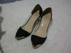 Zapatos de mujer con dorado