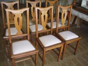 2 sillas de roble y cuero muy antiguas estilo posot class - Sillas antiguas restauradas ...