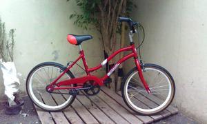 bicicleta de paseo filardi roja rodado 20 excelente estado