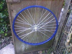 llanta de bicicleta rodado 26 de aluminio trasera restaurada