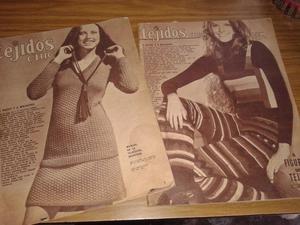 vendo lote de revistas antiguas de tejidos chic