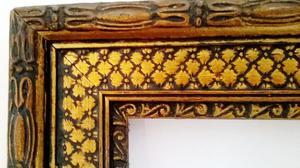 Antiguo Marco de madera 130 x 180 cm, moldura de 5 cm