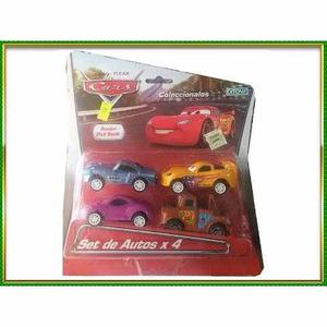 Cars Disney Set De Autos X 4 Acción Pull Back Ditoys