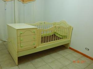 Juego Dormitorio La Valenciana Cuna Funcional Ropero