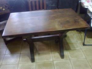Mesa de Algarrobo con 3 sillas