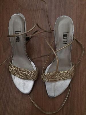 Sandalias doradas. Lucerna. Número 36
