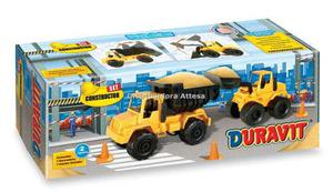Set Constructor 1 Camion Volcador + Excavadora Caja Duravit