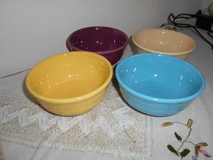 Set de 4 bowls para cereal, helado, compota, etc.