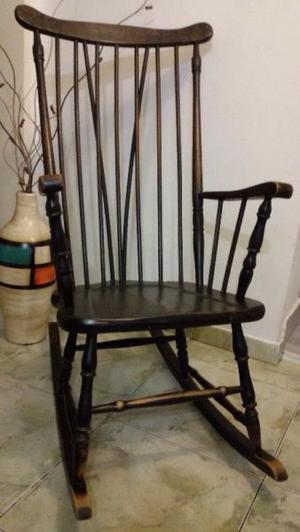 Silla sillón mecedora estilo windsor americano madera