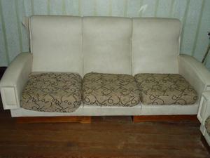Vendo juego de living, usado, sillón de 3 cuerpos y 2