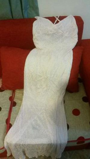 Vestido de hilo de seda largo y tapado haciendo juego