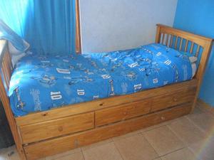 cama marinera de 1 plaza con 3 cajones