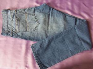 pantalon jeans recto colo azul tiro medio talle