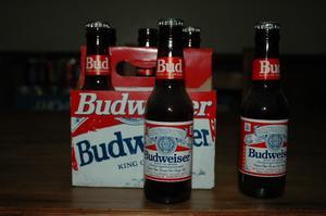 Botellas Budweiser Antigua Pack De 6 - Vacias - De Coleccion