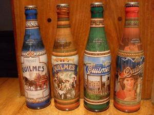 Botellas Quilmes - Edicion Historia - Lote De 4 Llenas