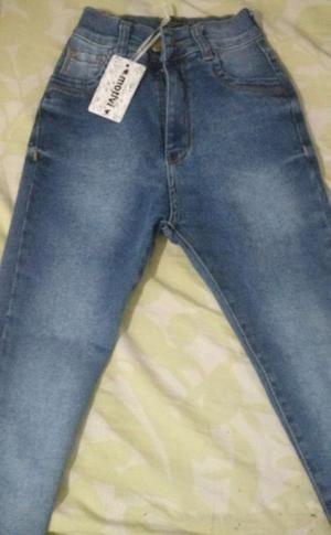 Jeans Tiro alto $250