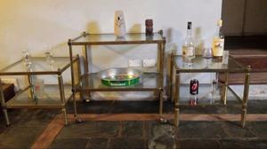 Juego de mesas de bronce