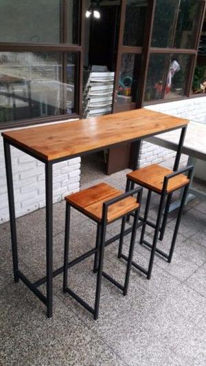 Mesa desayunador con dos banquetas