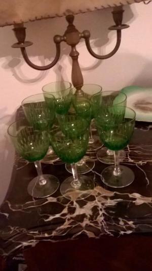 Oferta! Juego de copas de cristal antiguas