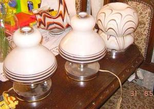 Par de Veladores Retro Vintage Plateado base cromada