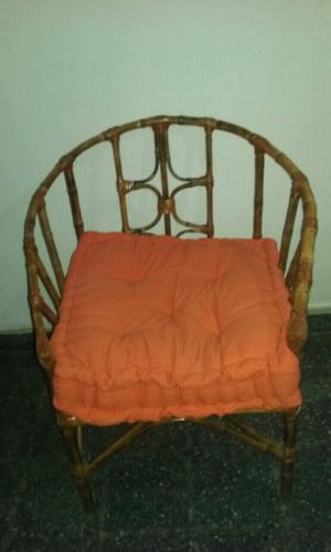 Vendo juego de sillones de caña tacuara