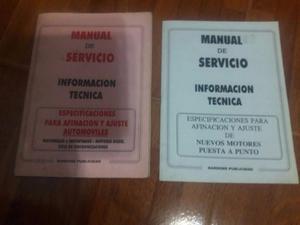 manual de servicio, puesta a punto de motores
