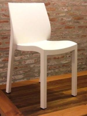Silla sillon de plastico reforzado apilables posot class for Sillas diseno oferta
