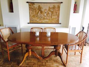 Juego de comedor mesa y sillas roble