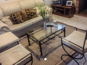 Juego de living sillón mesa