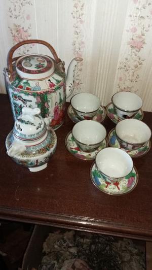 Juego de te de porcelana china antiguo