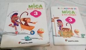 LIBRO Y CUADERNILLO ACTIVIDADES MICA Y SUS AMIGOS 3