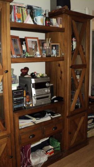 Modular vajillero de madera cipres