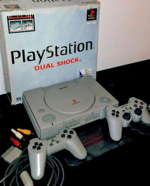 Play Station 1 Sony Dual Shock Scphc + Afombra De Baile