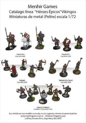 Soldaditos Miniaturas De Metal Vikingos Ind. Arg.
