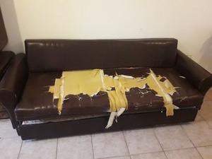 Usado cama alta para colocar escritorio abajo posot class for Sillon cama usado