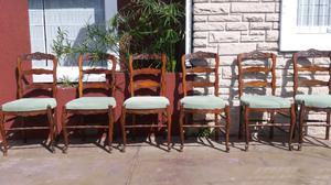 Antiguas sillas Provenzal tapizadas