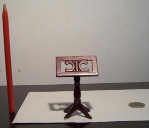 Atril Miniatura, Escala 1:12, Casa De Muñecas