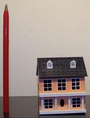 Casa de muñecas miniatura, escala 1:12, casa de muñecas