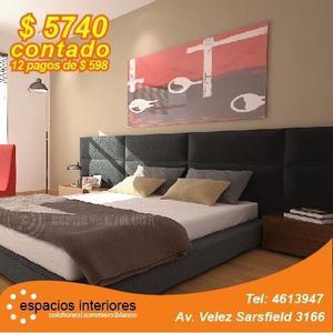 Colchón 140 x 190 de Resortes Tradicionales + Box Eco Cuero