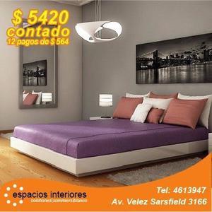 Colchón Resortes 140 x 190 + Box Eco Cuero