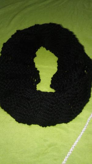 Cuellos tejidos a crochet y dos agujas