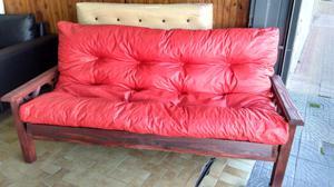 Futon pino + colchon de futon