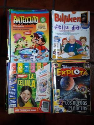 Revistas anteojito, billiken, genios y disney explora