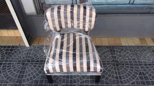 Sillon matero tapizado en chenille.