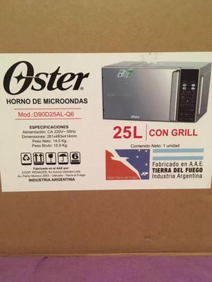 microondas Oster 25 litros digital grill puerta espejo inox