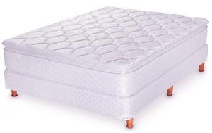 Colchon Y Sommier(somier) 2 1/2 Con Tela Jacquard Pillow Top
