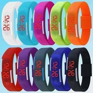 Reloj Pulsera Silicona Digital Led Hombres Mujeres Deportivo