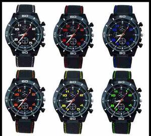 Reloj Pulsera Silicona Hombres Diseño Deportivo Gt Colores