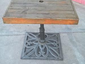 mesas de hierro fundido